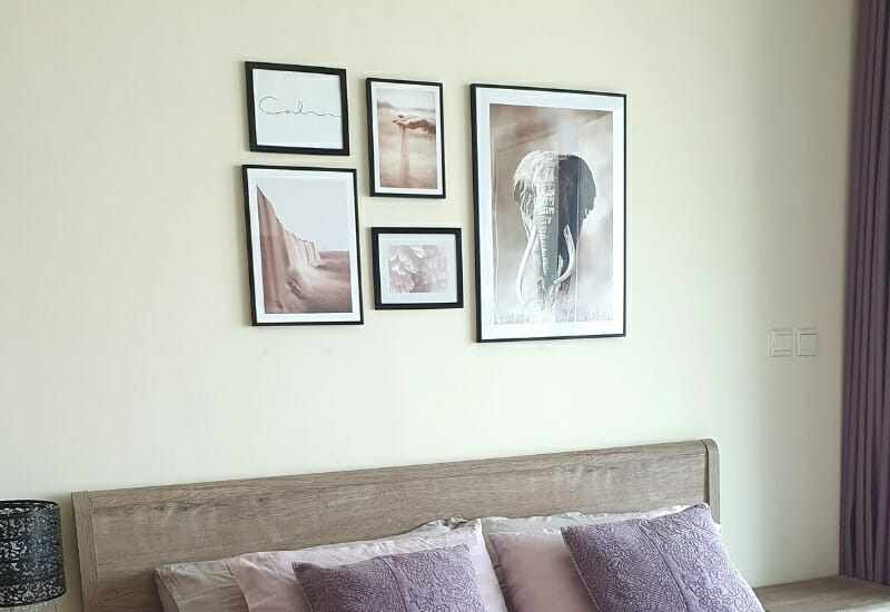 Sustainable Gallery Wall Posters in bedroom
